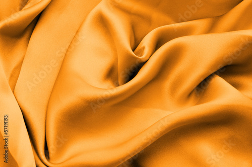 Yellow silk fabric background