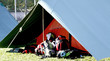 big tent of boy scout camp and the rucksack
