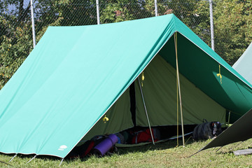 tent of boy scout camp