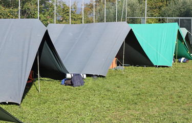 tents set up in a campground in Meadow Green