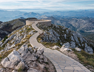 Viewing point. Lovcen National Park. Montenegro