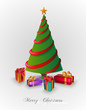 Merry Christmas tree with presents EPS10 file.