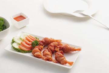 Shrimp warp bacon 1
