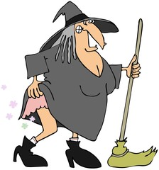Witch with gas