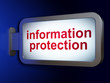 Protection concept: Information Protection on billboard backgrou