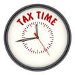 Время платить налоги. Часы с надписью