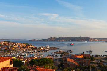 Palau port in Sardinia.