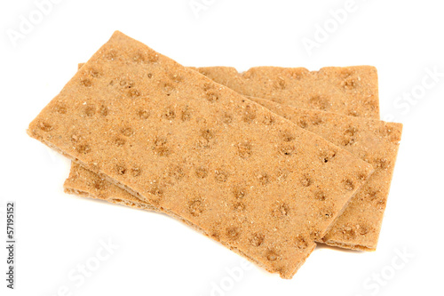 Rye Crisp Bread Isolated on White Background