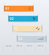 Stepwise numeric template infographic.