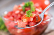 Fresh made Tomato Salad