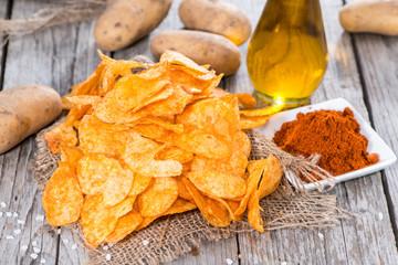 Heap of Paprika Potato Chips