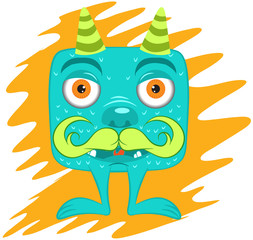 Illustration vector of cartoon cute monster