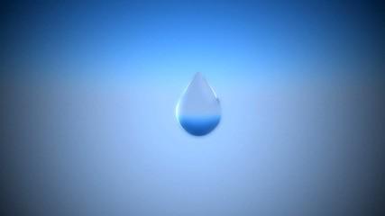 Goccia blu, acqua benessere, cristallo, idratazione
