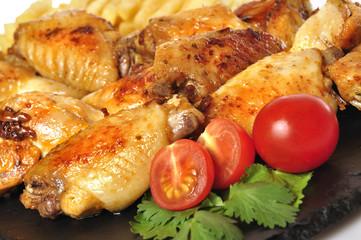 Alitas de pollo al detalle