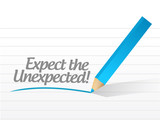 expect the unexpected written message poster