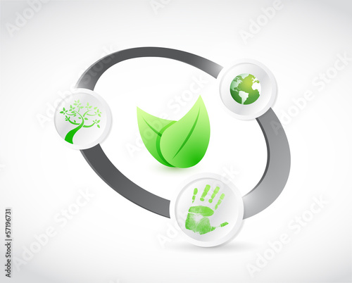 natural concept cycle illustration design