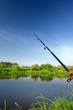 Fishing Rod (Spinning Rod) over Lake