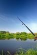 Fishing Rod (Spinning Rod) over Lake