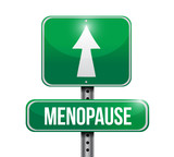 menopause road sign illustration design poster