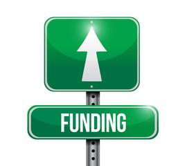 funding road sign illustration design