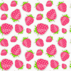 Seamless pattern with strawberry. Vector illustration