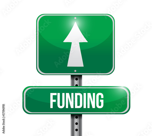 funding road sign illustration design