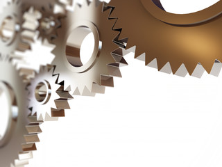 gears abstract background. 3d Illustrations