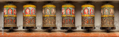 Pattern - Buddhist Meditation prayer wheel in Kathmandu, Swoyamb