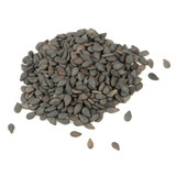 Black Sesame Seeds Isolated on White Background