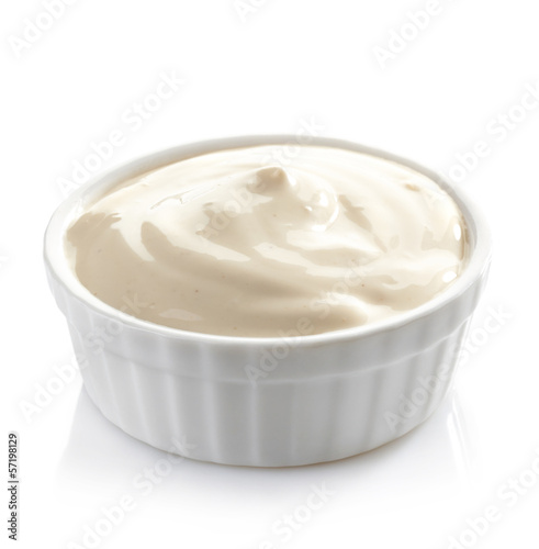 Bowl of mayonnaise