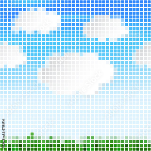 Abstract pixel background  Vector illustration