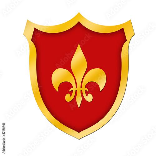 Schild mit französischer Lilie