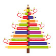 Pencils - tree decoration.eps