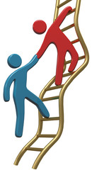People help join up success ladder