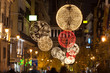 Arenal street of Madrid illuminated for christmas