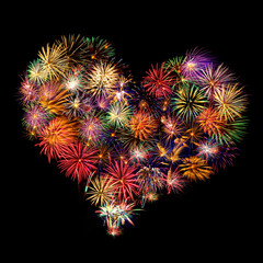 Herz - Feuerwerk