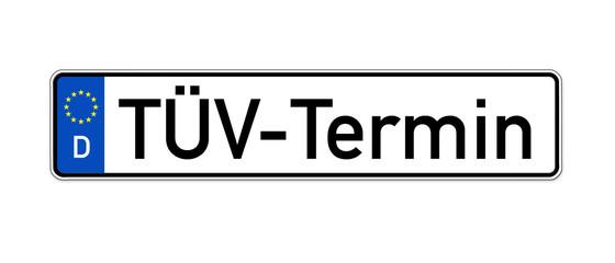 KFZ Kennzeichen mit TÜV Termin