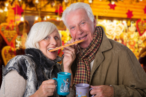 senior couple on christmas