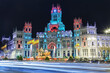 Cibeles square at Christmas, Madrid, Spain