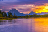 Beautiful Sunset at Grant Tetons
