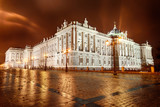 Royal Palace of Madrid at night, Spain - 57201799