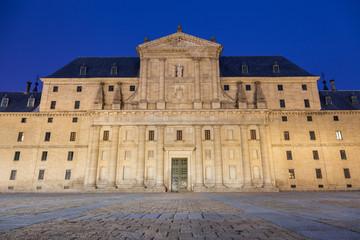 Royal Monastery of San Lorenzo de El Escorial at night, Madrid