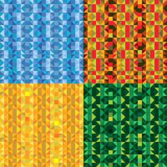 Bright Mosaic Backgrounds Set