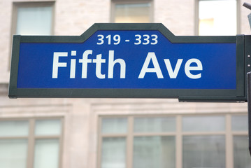 Road sign of Fifth avenue