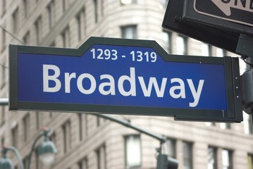 Road sign of Brodway avenue