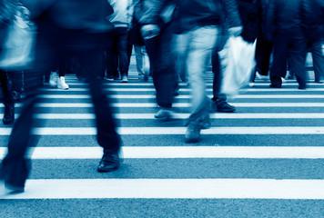 city people walking