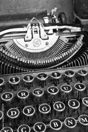 An Antique Typewriter Showing Traditional QWERTY Keys VIII