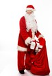 Man in Santa Claus costume isolated on white