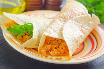tortilla with minced meat