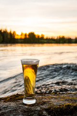 cold beer in nature
